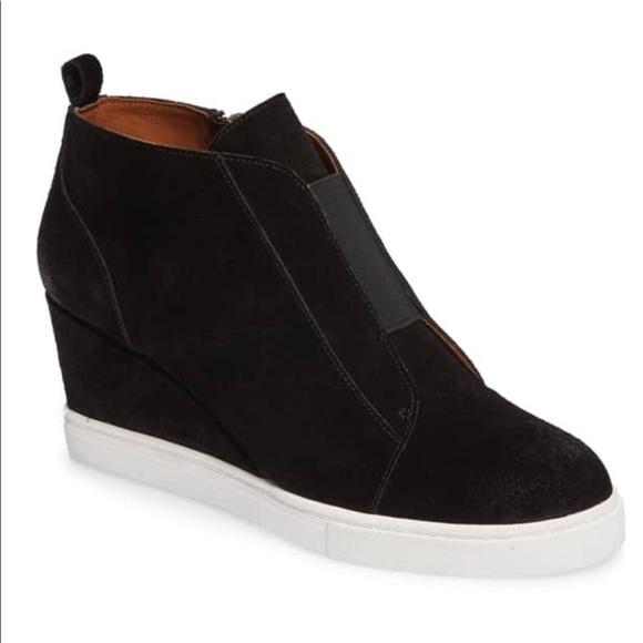 e829f4961aa3 linea paolo Shoes - Linea Paola Felicia Black Suede Sneaker Bootie